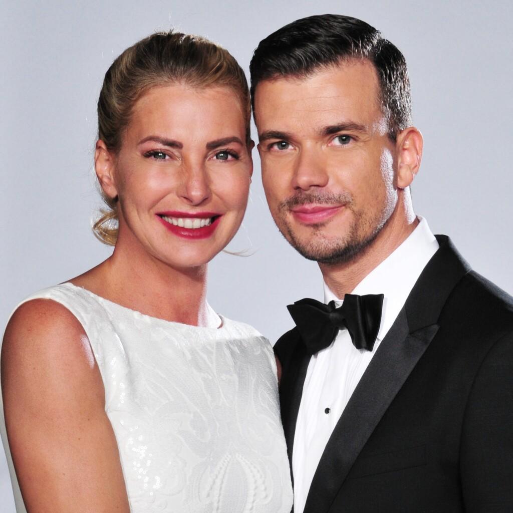 Model und D-Jane Giulia Siegel (42) und ihr Partner Gourmet-Koch Ludwig Heer (36)