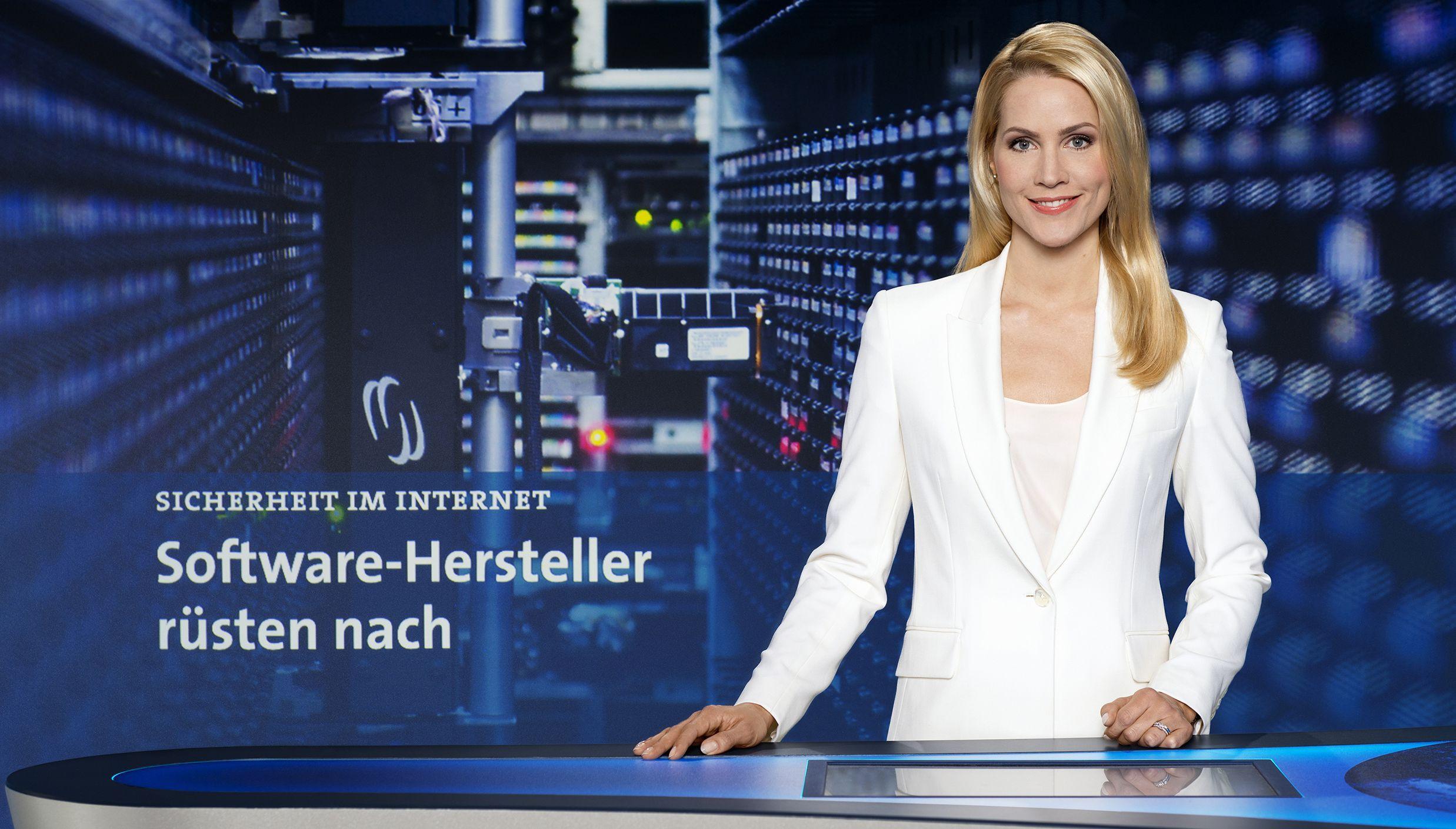 Neues Tagesschau Studio 2014 Judith Rakers Spricht Die