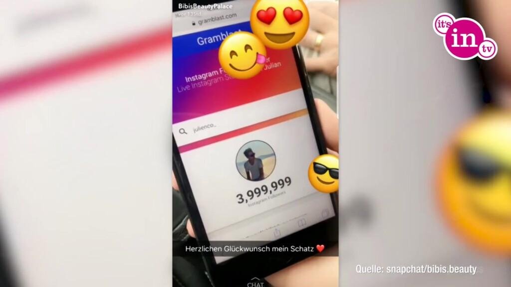 Bibi gratuliert Julienco zu vier Millionen Instagram Follower