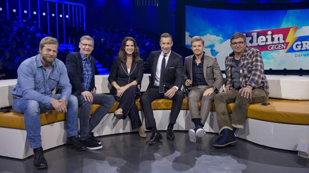 Von links: Henning Baum, Günther Jauch, Katarina Witt, Kai Pflaume, Nico Rosberg, Hans Sigl