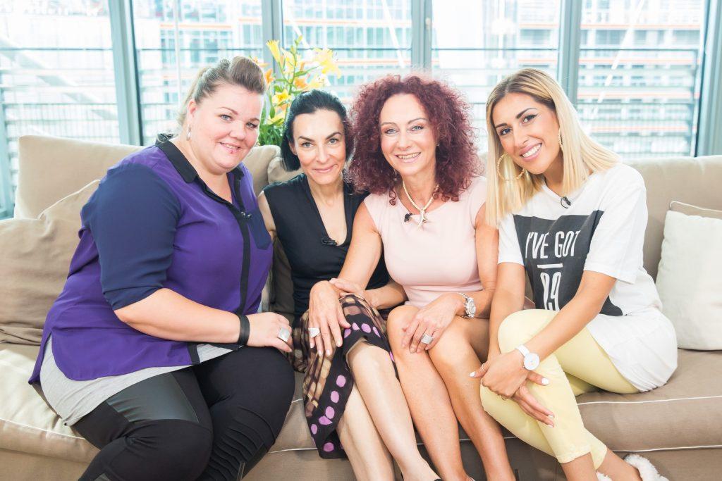 "V.l.: Manuela Wisbek, Marusha, Christina ""Mausi"" Lugner und Senna Gammour."